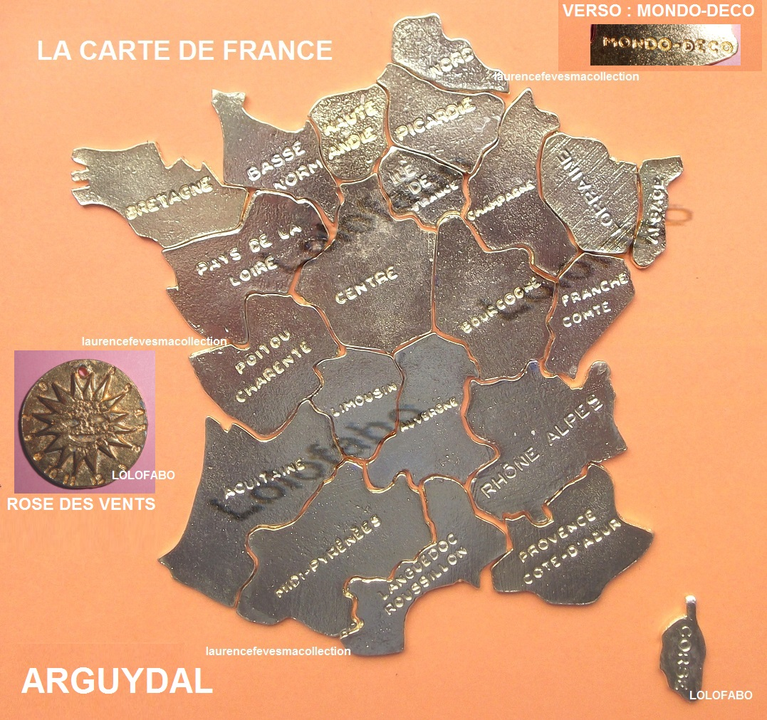 0 carte de france puzzle metal 22 1 rose des vents farguydal
