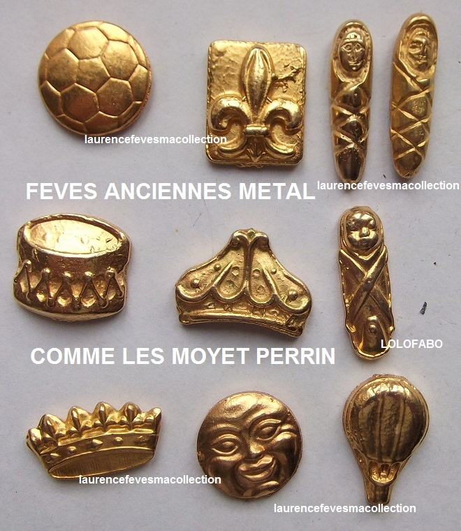 0 feves anciennes metal comme les moyet perrin BOITE TRANSPARENTE