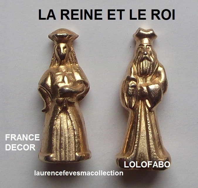 0 la reine et le roi metal dore france decor