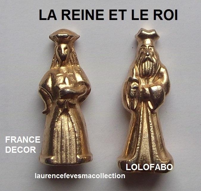 0 la reine et le roi metal dore france decor