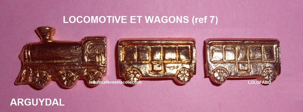 0 ref 7 locomotive et wagons arguydal train 1