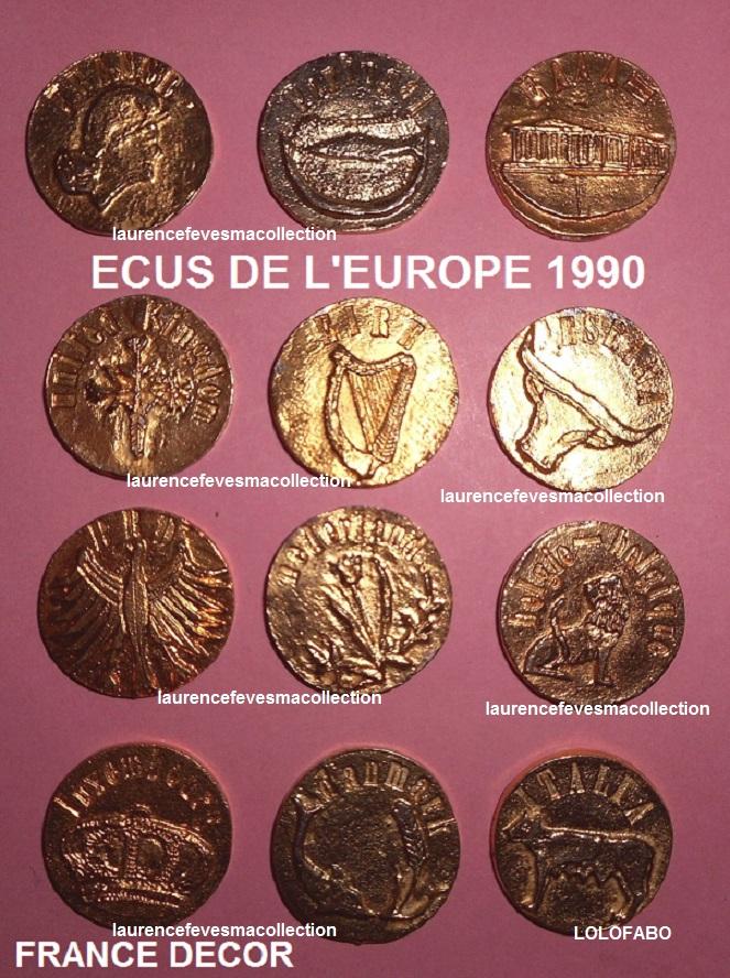 1990 ecus de l europe 1990 dore france decor