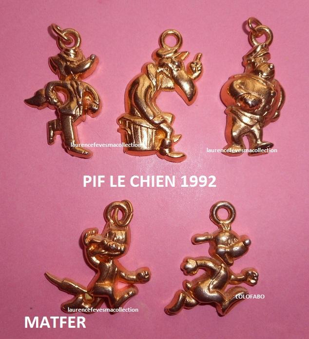 1992 pif le chien 1992 matfer pendentifs dorees