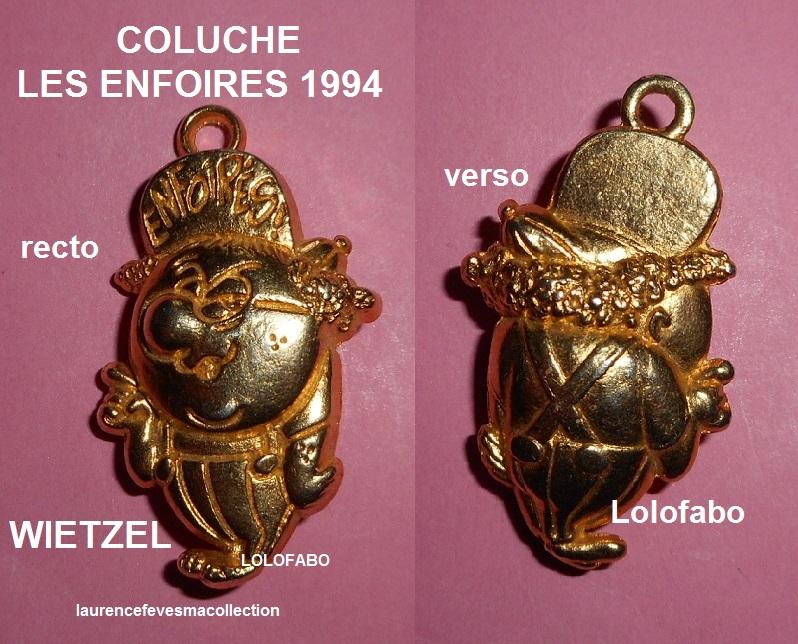 1994 bd083 x coluche les enfoires dores aff94p57 wietzel