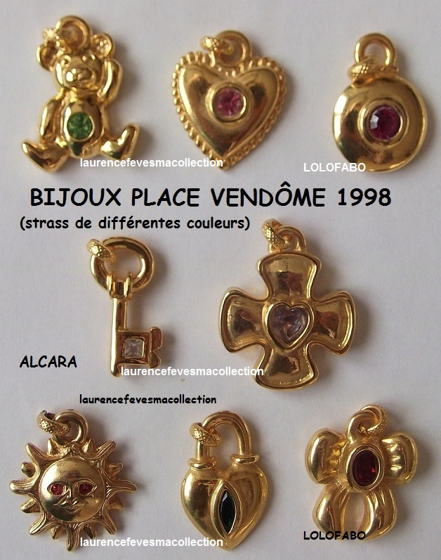 1998p09 bijoux place vendome strass de differentes couleurs alcara