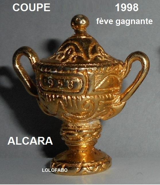 1998p16 coupe 1998 feve gagnante aff98p16 alcara boite transparente