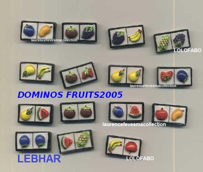 2005 dominos fruits aff05p92