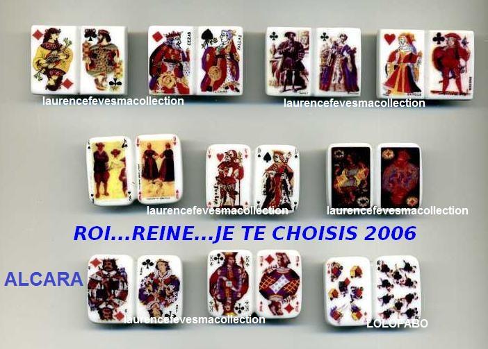 2006 dv1455 x roi reine je te choisis cartes jeu x 06p05